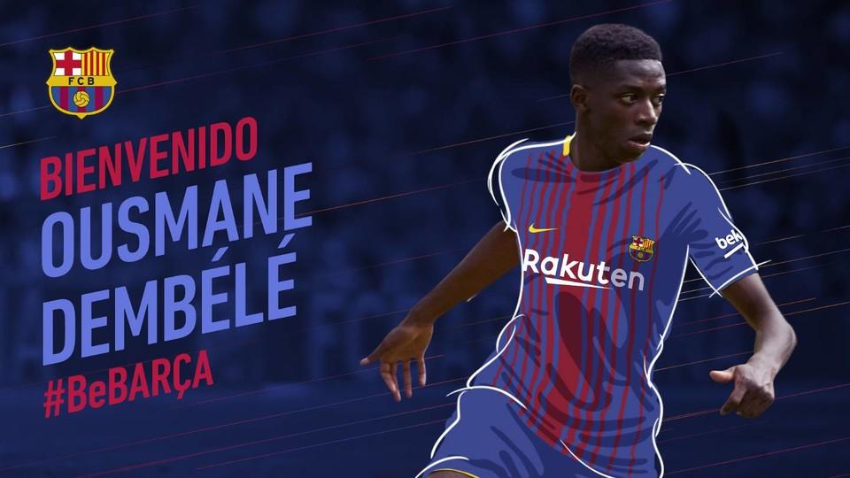نادي برشلونة يضم ديمبلي